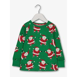 Christmas Green Santa Long-Sleeve Top