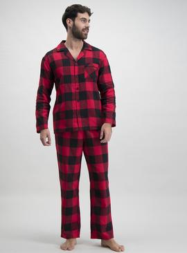 Christmas Mini-Me Red & Black Check Pyjamas