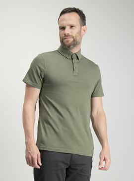 Khaki Garment Dyed Polo Shirt