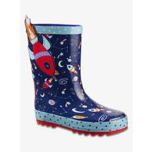 Navy Blue Rocket Wellies