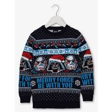 Christmas Star Wars Navy 'Merry Force' Jumper