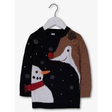 Christmas Navy Snowman Reindeer Jumper