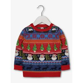 Christmas Mini Me Red Fair Isle Jumper