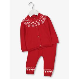 Christmas Red Fair Isle Knitted Set