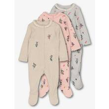 Multicoloured Floral Sleepsuits 3 Pack