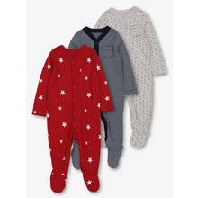 Multicoloured Star & Stripe Sleepsuit 3 Pack