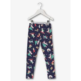 Christmas Navy Blue Cat & Dog Leggings