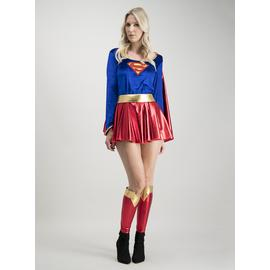 Supergirl Blue & Red Costume Set