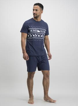 Christmas 'Home Alone' Navy Short Pyjamas