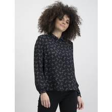 Black & White Cat Print Long Sleeve Shirt