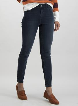 Online Exclusive Black 4 Way Stretch Skinny Jeans