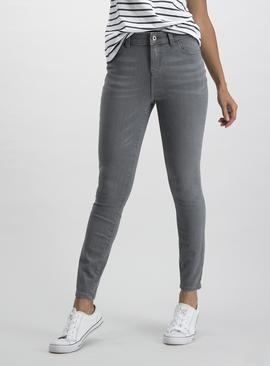 Grey 4 Way Stretch Skinny Jeans