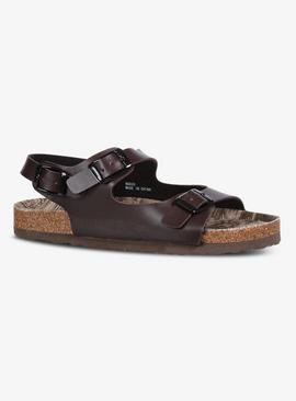 Brown Buckle Sandals