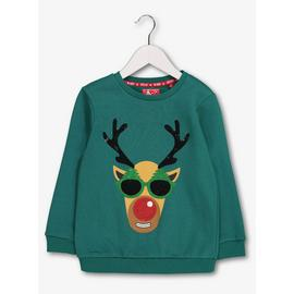 Christmas Green Cool Rudolf Sweatshirt