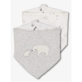 Grey & White Polar Bear Hanky Bibs 2 Pack - One Size