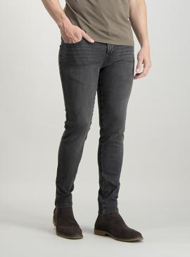 Online Exclusive Grey Super Skinny 4 Way Stretch Jeans