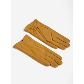Dark Green Leather Driving Gloves