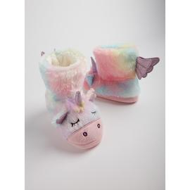 Pastel Unicorn Faux Fur Boot Slippers