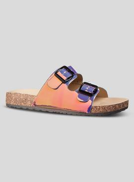 Spot On Multicoloured Iridescent Buckle Sandals