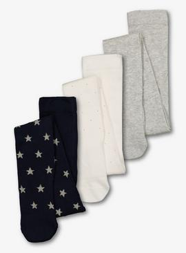 Navy Star Super Soft Tights 3 Pack