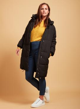 PREMIUM Black Longline Padded Coat