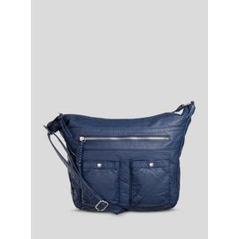 Navy Washed Shoulder Bag - One Size