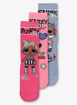 LOL Surprise! Pink Leopard Sock 3 Pack