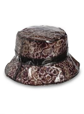 Brown Animal Print Bucket Hat - One Size