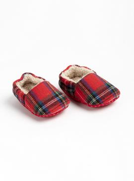 Red Tartan Slippers