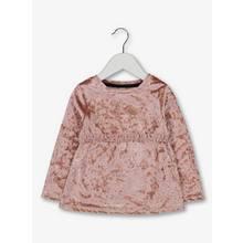 Pink Velvet Frill Long Sleeve Top