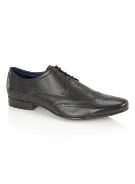 SILVER STREET Black Formal Lace-Up Shoes
