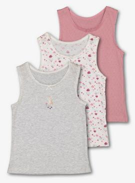 Multicoloured Toadstool Vests 3 Pack