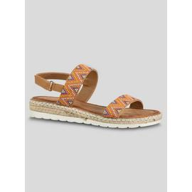 Online Exclusive Savannah Tan Aztec Wedge Sandals