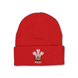Wales Rugby Red Beanie Hat - One Size