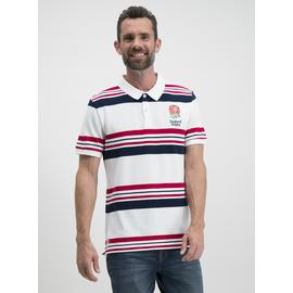 Rugby World Cup England White Stripe Polo Shirt