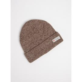 Brown Fleck Beanie Hat - One Size