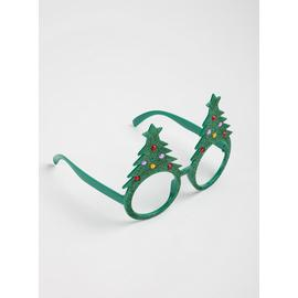 Christmas Green Tree Glasses - One Size