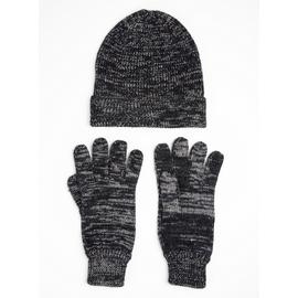 TOASTIES BY TOTES Grey Beanie Hat & Gloves Set - One Size