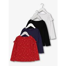 Multicoloured Long-Sleeved Tops 4 Pack
