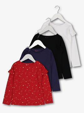 Multicoloured Long-Sleeved Tops 4 Pack