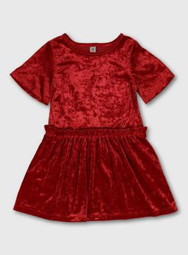 Red Velour Party Dress