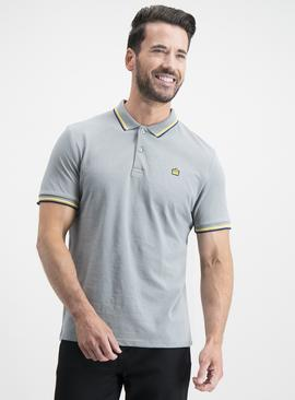 Grey Tipped Polo Shirt
