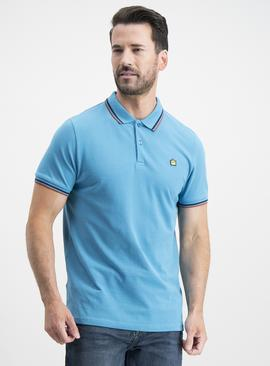 Teal Tipped Polo Shirt
