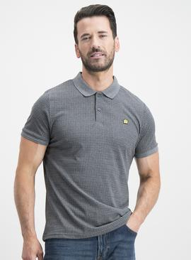 Grey Houndstooth Polo Shirt