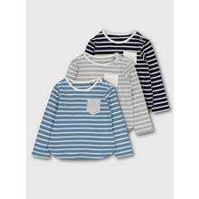 Multicoloured Striped Long-Sleeved Tops 3 Pack