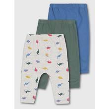 Multicoloured Dinosaur Leggings 3 Pack