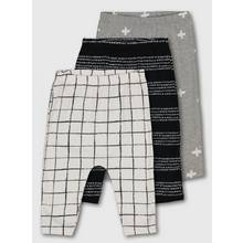 Monochrome & Grey Abstract Legging 3 Pack
