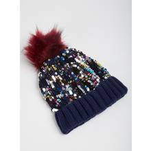 Multicoloured Sequin Fashion Beanie Hat