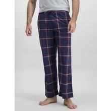 Purple Check Fleece Pyjama Bottoms