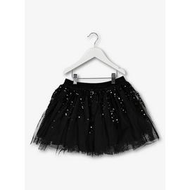 Black Sequin Party Tutu Skirt